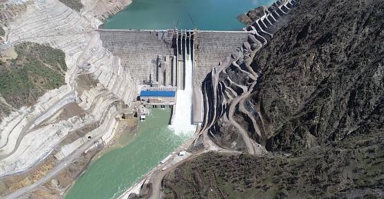 Çetin Barajı ve HES Enerji Üretimine Başladı
