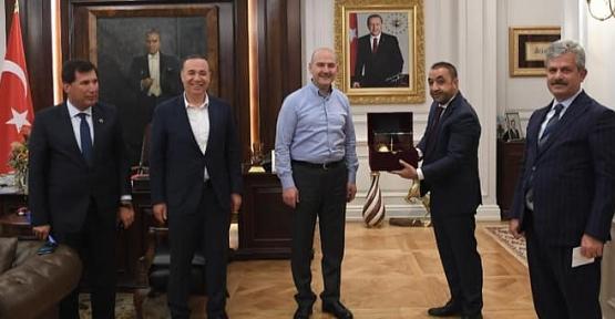 AK Parti Milletvekili Ören ve Belediye Başkanları İçişleri Bakanı Süleyman Soylu'yu Ziyaret Etti