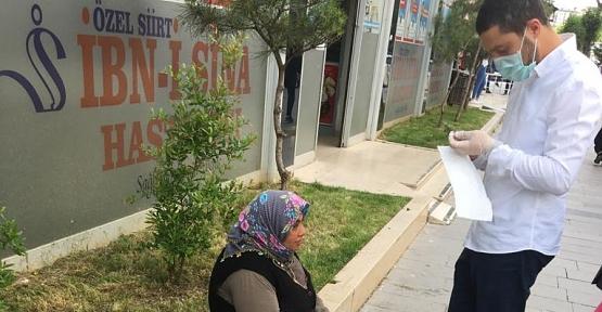 AK Parti Siirt Gençlik Kolları Maske Dağıttı