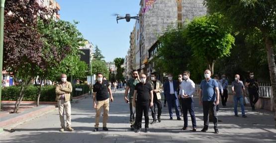 Siirt'te Drone İle Maske Denetimi
