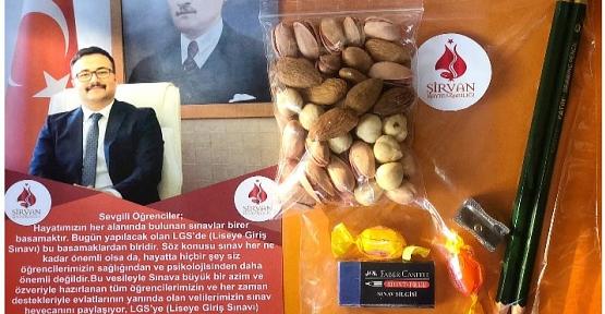 """Şirvan Kaymakamlığı LGS'ye Girecek Öğrencilere """"Sınav Paketi"""" Hazırladı"""
