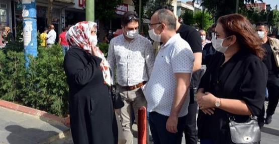 Vali/Belediye Başkan Vekili Atik, Maskesiz Gezenleri Tek Tek Uyardı!
