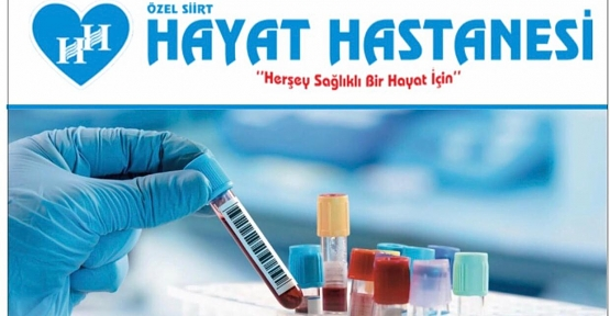 Özel Siirt Hayat Hastanesinde Covıd-19 Antikor Testi Yapılmaya Başlandı