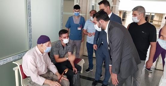 AK Parti İl Başkanı Av. Ekrem Olgaç'tan Hasta Ziyareti