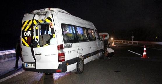 İstanbul'dan Siirt'e Taziyeye Gidenleri Taşıyan Minibüs Devrildi: 13 Yaralı