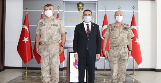 Şırnak Jandarma Bölge Komutanı Ersoy'dan, Vali Hacıbektaşoğlu'na Ziyaret