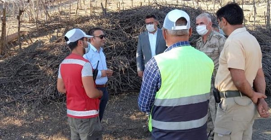 Şirvan Kaymakamı Recep Hasar, Köy Yolu Yapımını Denetledi