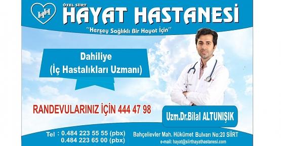 Dr. Bilal Altunışık, Yüksek Tansiyon, Diyabet, Kalp Hastalıklarına Dikkat Çekti