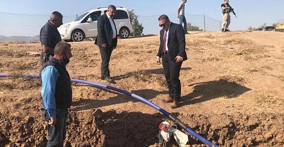 Kaymakam Hasar ve Başkan Cellek, İçme Suyu Hattında İnceleme Yaptılar