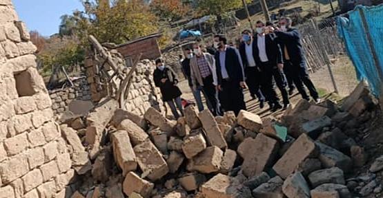 AK Parti İl Başkanı Av. Ekrem Olgaç, Deprem Bölgesini Ziyaret Etti
