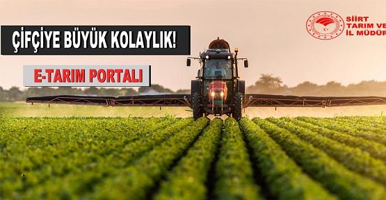 E-Tarım Portalı Üreticilerin Hizmetinde