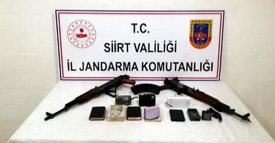 Siirt'te Terör Örgütü PKK'ya Ait Silah Ele Geçirildi
