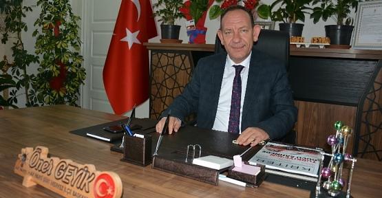 AK Parti Merkez İlçe Başkanı Öner Geyik'ten Gazeteciler Günü Mesajı