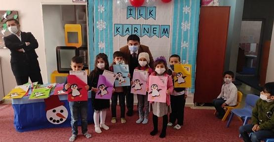 Baykan Kaymakamı/Belediye Başkan V. Mehmet Tunç, Çocukların Karne Sevincine Ortak Oldu