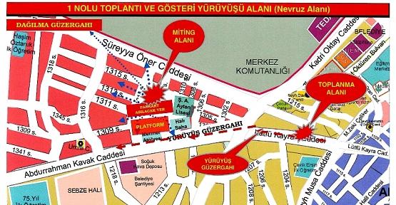 Siirt'te Toplantı ve Yürüyüş Güzergâhlarına Yeni Düzenleme