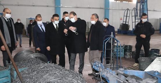 Vali/Belediye Başkan V. Hacıbektaşoğlu OSB'de İncelemede Bulundu
