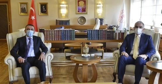 Vali Hacıbektaşoğlu, Kültür ve Turizm Bakanı Ersoy'la Görüştü