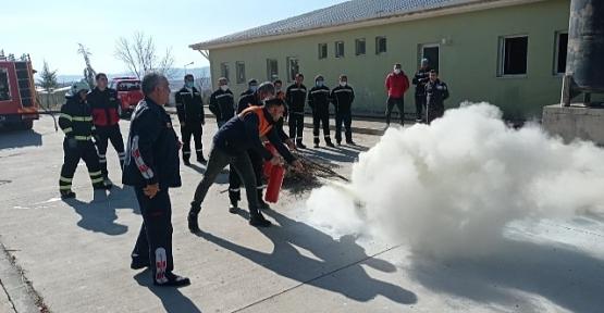Belediye Personeline Yangın Eğitimi Verildi