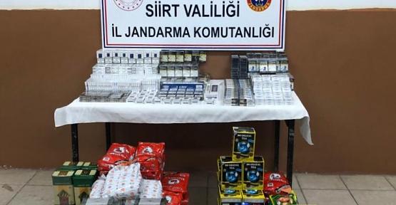 Eruh'ta 3 Araçta Kaçak Sigara, Çay ve Nargile Tütünü Ele Geçirildi