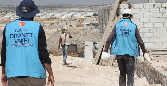 Siirt'ten İdlib'e 8 Briket Ev Desteği