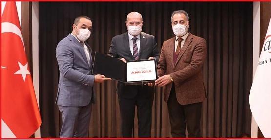 Veysel Karani Belediye Başkanı Akgün'den ATO Başkanı Gürsel Baran'a Ziyaret