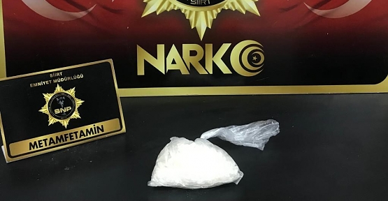 Siirt'te 110 Gram Metamfetamin Maddesi Ele Geçirildi
