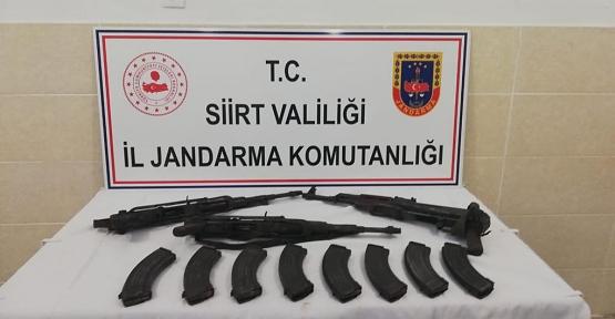 Tillo İlçesi,Hatrant Köyü Bölgesinde Silah ve Mühimmat Ele Geçirildi