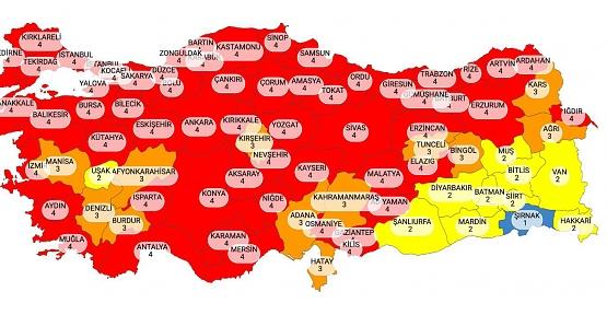 Haftalık Vaka Sayılarında En Az Vakalar Şırnak, Siirt ve Şanlıurfa'da Kaydedildi