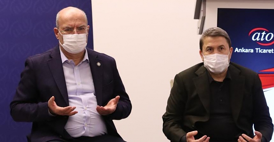 Siirt TSO Başkanı Güven Kuzu'dan ATO Başkanı Gürsel Baran'a Taziye Ziyareti