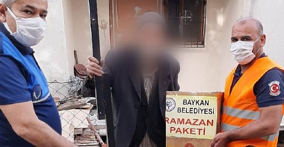 Baykan Belediyesi İhtiyaç Sahibi Vatandaşlara Ramazan Paketi Dağıttı