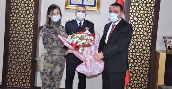 Emniyet Teşkilatından, Vali Hacıbektaşoğlu'na Polis Haftası Ziyareti