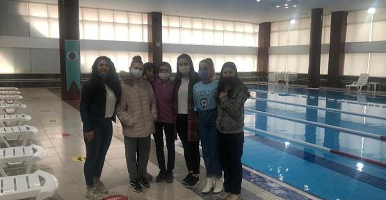 Özel Eğitim Sınıfı Öğrencileri Siirt Belediyesi Kadın Yaşam Merkezini Ziyaret Etti
