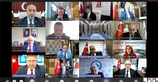 Rektör Şındak, YÖK Başkanı Saraç'ın Başkanlığında Düzenlenen Çevrimiçi Toplantıya Katıldı