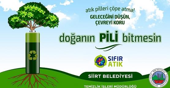 Siirt Belediyesi Atık Pil Toplama Kampanyası Başlattı