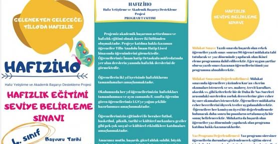 Tillo Anadolu İmam Hatip Lisesinden Hafız Yetiştirme Projesi