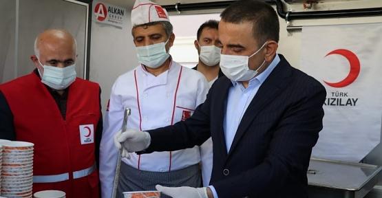 Vali/Belediye Başkan Vekili Osman Hacıbektaşoğlu, Mobil Aş Evini Ziyaret Etti