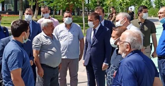Vali Hacıbektaşoğlu, Kızlar Tepesi Sosyal Tesislerinde Basınla Bir Araya Geldi