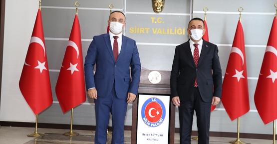 KİLİS VALİSİ SOYTÜRK'TEN, VALİ HACIBEKTAŞOĞLU'NA NEZAKET ZİYARETİ