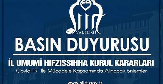 İl Umumi Hıfzıssıhha Kurul Kararı ( 6 Haziran Muhtarlık Seçimleri ve LGS Sınavlarına İlişkin Tedbirler)