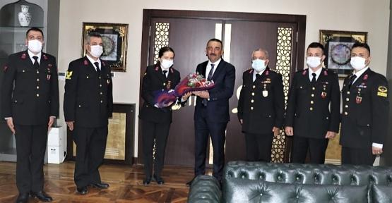 Jandarma Teşkilatı'ndan Vali Hacıbektaşoğlu'na 182. Kuruluş Yıldönümü Ziyareti