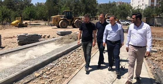 Milletvekili Ören ve Başkan Olgaç, Millet Bahçesinde İncelemelerde Bulundu