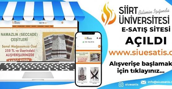 Siirt Üniversitesinin Online Satış Sayfası Hizmete Açıldı