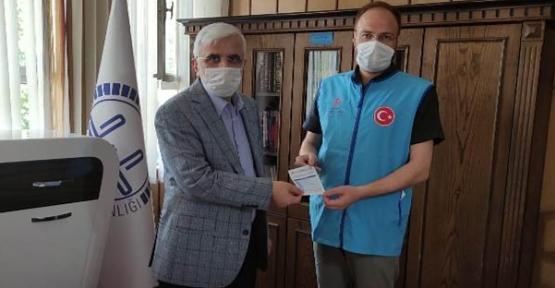 """Siirt'te """"Vekâletle Kurban Bağışı Programına"""" İlk Bağış Müftü Kapıcıoğlu'ndan Geldi"""