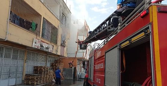 Çal Mahallesinde Çıkan Yangında Ev Kullanılamaz Hale Geldi