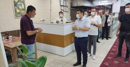Baykan Kaymakamı / Kurtalan Kaymakam V. Mehmet Tunç, Kurtalan'da Maske Denetiminde Bulundu
