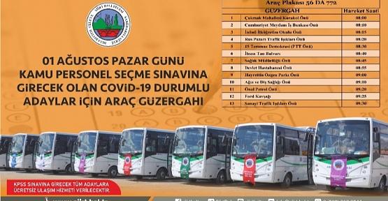 Siirt Belediyesi'nden KPSS'ye Girecek Adaylara Ücretsiz Ulaşım Desteği