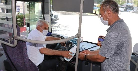 Siirt Belediyesinden Toplu Taşıma Araçlarına Maske İle Dezenfektan Desteği