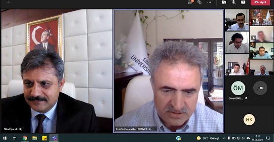 Siirt Üniversitesi Danışma Kurulu Toplantısı Online Gerçekleştirildi