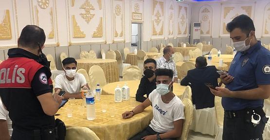 Emniyet Müdürlüğü Düğün Salonlarını Denetledi