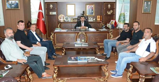 Milletvekili Ören ve Olgaç'tan TÜDKİYEB Genel Başkanı Nihat Çelik'e Ziyaret